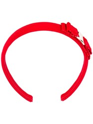 Salvatore Ferragamo Bow Embroidered Hair Band Women Cotton One Size