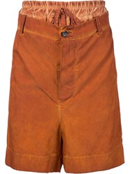 Vivienne Westwood Gold Label Builders Shorts Yellow And Orange