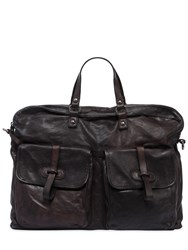 Campomaggi Leather Bag W Vintage Effect Grey Brown