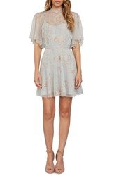 Willow And Clay Women's Embroidered Minidress Silver