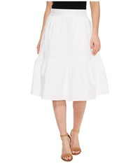 Splendid Poplin Knee Length Skirt White Women's Skirt