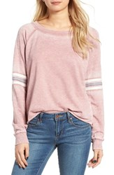 Socialite Women's Stripe Sleeve Sweatshirt