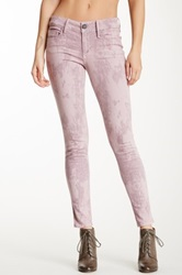 Black Orchid Mid Rise Abstract Tie Dye Skinny Jean Pink