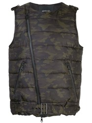 Mostly Heard Rarely Seen Moto Padded Vest Green