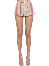 Missoni Printed Logo Waistband Knit Shorts Multicolor