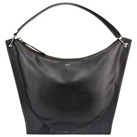 Dkny Item Moulded Leather Hobo Bag Black