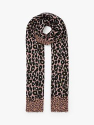John Lewis Collection Weekend By Painterly Leopard Print Scarf Pin Mix