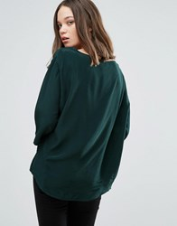 Only Hisa Shell Top Scarab Green
