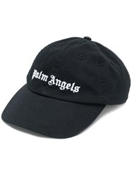 Palm Angels Embroidered Logo Cap Black