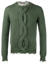Etro Cable Knit Jumper Green