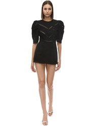 Alice Mccall A Foreign Affair Cotton And Lace Romper Black