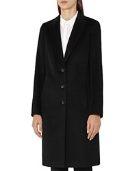 Reiss Nia Tailored Wool Coat Black