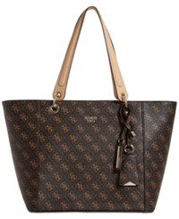 Guess Kamryn Extra Large Tote Brown