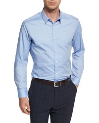 Theory Zack Ps Berridale Solid Dress Shirt Blue Men's