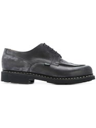 Paraboot Chunky Sole Derby Shoes Leather Rubber Black