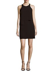 French Connection Solid Ruffle Dress Black