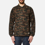 Penfield Men's Howard Camo Coach Jacket Olive Green