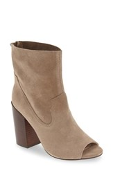 Bettye Muller Women's 'Waight' Peep Toe Bootie Stone
