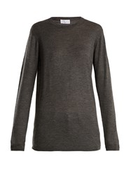 Raey Long Line Fine Knit Cashmere Sweater Charcoal