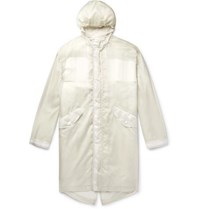 Helmut Lang Printed Nylon Ripstop Hooded Parka With Removable Liner White