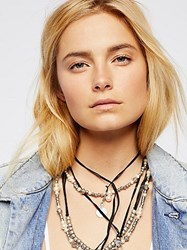 Free People Magic Waters Faux Pearl Leather Necklace By