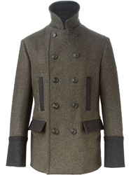 Dolce And Gabbana Padded Back Peacoat Green