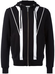 Les Hommes Urban Striped Hoodie Black