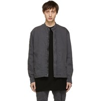 Julius Grey Denim Seamed Jacket