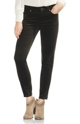 Vince Camuto Washed Stretch Cotton Corduroy Skinny Pants Rich Olive