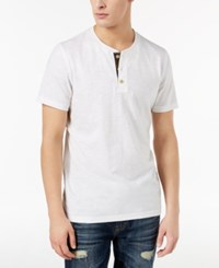American Rag Men's Camo Henley Created For Macy's Bright White