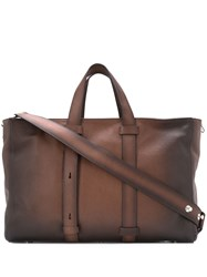 Orciani Distressed Effect Tote Brown