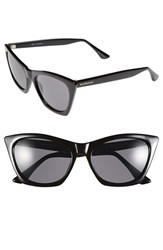 Women's Isaac Mizrahi New York 55Mm Cat Eye Sunglasses Black