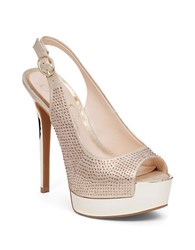Jessica Simpson Kabale Peep Toe Pumps Gold