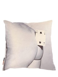 Seletti Two Of Spades Printed Pillow Multicolor