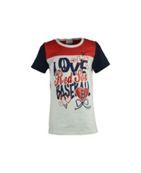 5Th And Ocean Girls' Boston Red Sox Love Baseball T Shirt