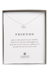 Dogeared Women's Friend Dragonfly Pendant Necklace Silver