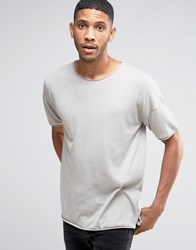 Pull And Bear Pullandbear Short Sleeved Sweatshirt In Light Grey Grey