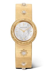Buccellati Macri 24Mm 18 Karat Gold And Diamond Watch