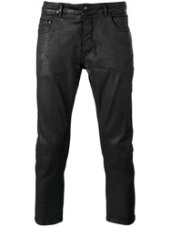 Rick Owens Drkshdw Waxed Cropped Jeans Black