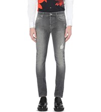 Mcq By Alexander Mcqueen Strummer 01 Slim Fit Skinny Jeans Washed Grey