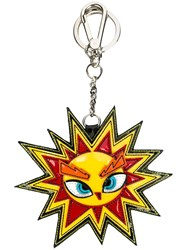 Dsquared2 Sun Shaped Keyring Yellow Orange