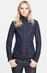 Belstaff 'Aynsley' Lightweight Tech Quilted Jacket Dark Navy