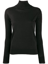 Ermanno Scervino Embellished Logo High Neck Sweater Black