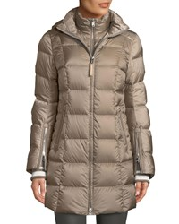 Bogner Fire And Ice Rose Down Filled Puffer Coat W Detachable Hood Neutral Pattern