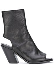 A.F.Vandevorst Cut Out Ankle Boots Black
