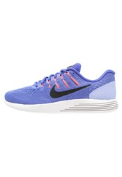 Nike Performance Lunarglide 8 Stabilty Running Shoes Med Blue Black Aluminum Hot Punch Summit White