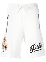 Philipp Plein No Light Track Shorts White