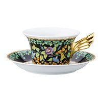 Versace 25Th Anniversary Gold Ivy Teacup And Saucer Limited Edition