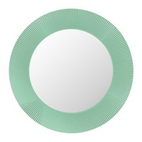 Kartell All Saints Round Led Mirror Aquamarine Green