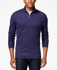 Club Room Performance Quarter Zip Sweater Only At Macy's Navy Blue
